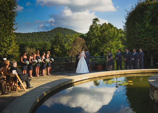 Wedding Ceremony at the North Carolina Arboretum